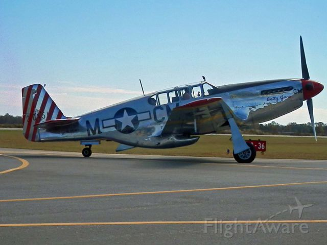 North American P-51 Mustang (NL251MX) - BETTY JANE HEADS TO THE RAMP AT PERRY