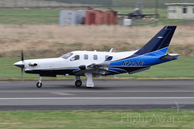 Daher-Socata TBM-900 (N900KN) - Departing to Reykjavik. 3 brand new TBM 900s passed through Prestwick on delivery. First visit of type.