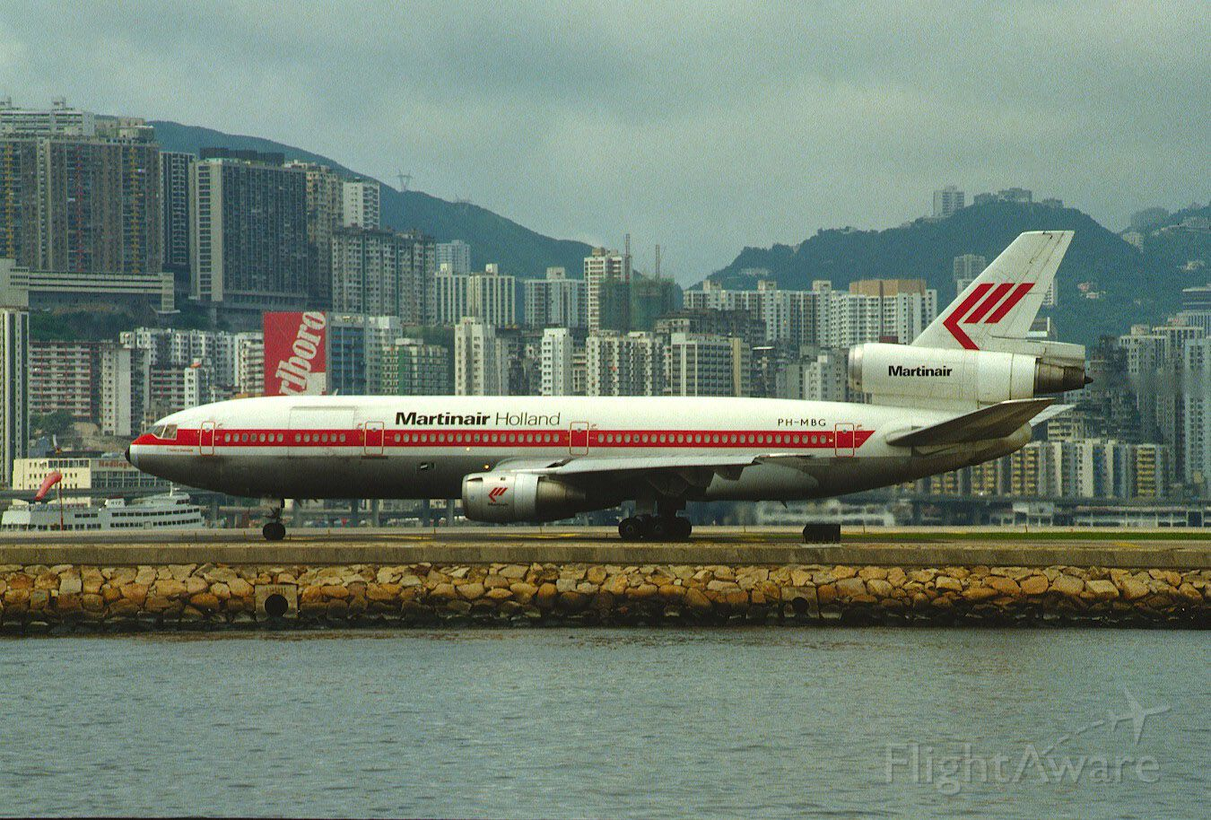 McDonnell Douglas DC-10 (PH-MBG) - Taxing at Kai Tak Intl Airport on 1987/08/07