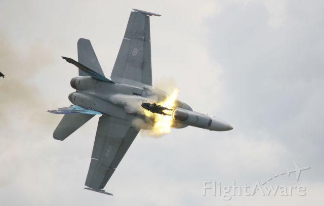 McDonnell Douglas FA-18 Hornet (18-8738) - Lethbridge Ejection during practice.