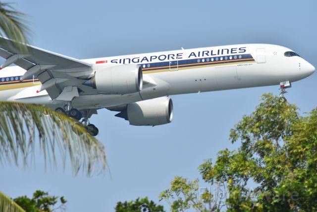 Airbus A350-900 (9V-SGF) - Arrival, Singapore Airlines, RWY 20R, Changi, Singapore. 8 Sep 2019