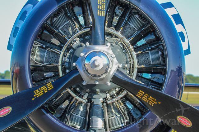 North American Trojan — - Beautiful T28 rotary engine.