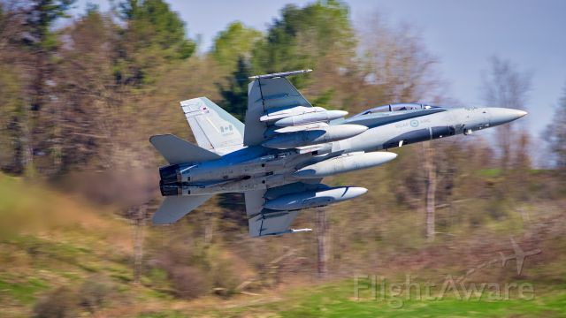 McDonnell Douglas FA-18 Hornet (18-8934) - Very low, high speed afterburner pass and left break.