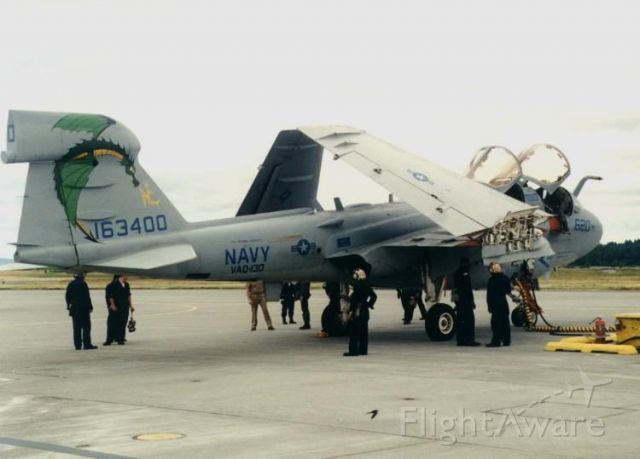 16-3400 — - VAQ-130 EA-6B Prowler getting ready to launch Aviano AFB Italy