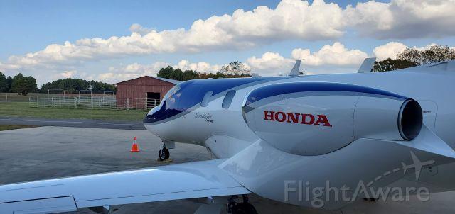 Honda HondaJet (N124HJ) - Back in the Barn