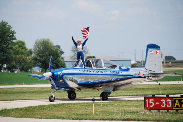 N134JC — - Julie Clark having just finished her last performance in Iowa, at Fly Iowa 2019.