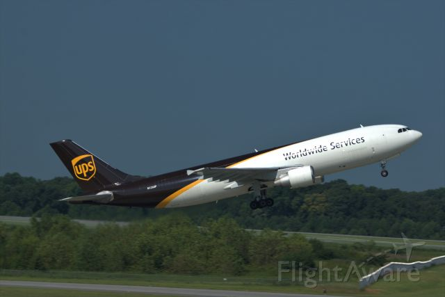 N126UP — - A UPS Cargo Jet taking off on Rwy 36C at KCLT.  Photo taken from the hour parking deck using a Nikon D5500 and 300mm lens