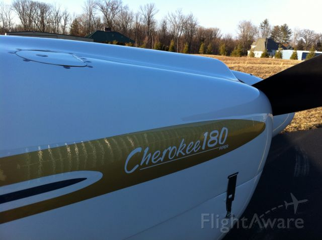 Piper Cherokee (N1442T) - After new paint from Dial Eastern States Aircraft Painting