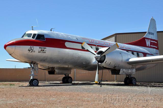 CONVAIR CV-340 Convairliner (N240HH) - Convair 240-1, Western Airlines