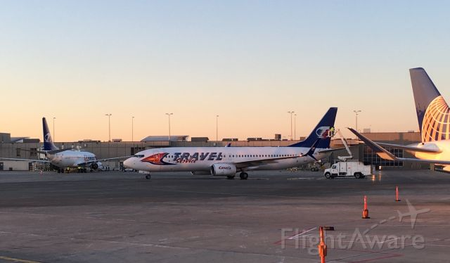 Boeing 737-800 (OK-TVS) - March 23, 2018br /OK-TVS and OK-TVT based in Milwaukee for the winter charter season to Mexico and the Caribbean