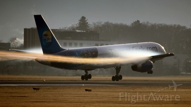 """Boeing 757-200 (G-TCBB) - Slogan on the aircraft: """"Egypt - where it all begins"""""""