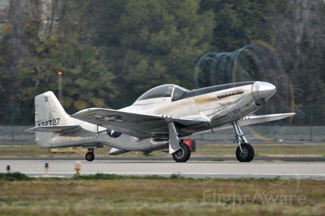 North American P-51 Mustang (N514DK) - Mustang Morning Vapor Trail
