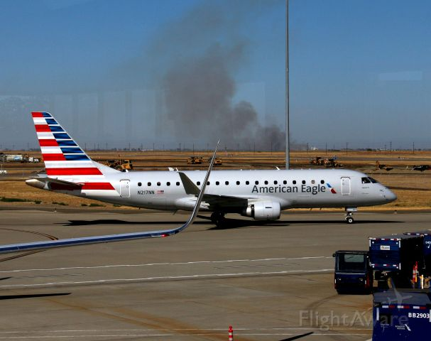 Embraer 175 (N217NN) - KSMF - E-175 of American Eagle rolling to gate A2.click full.