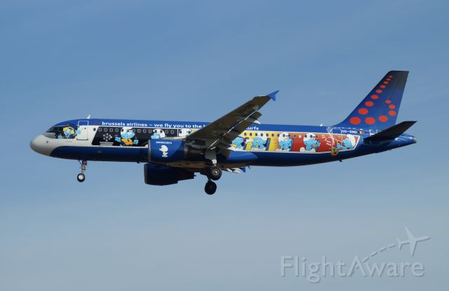 Airbus A320 (OO-SND) - 5th special color from Brussels Airlines - Aerosmurf