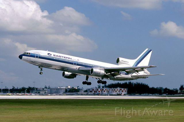Lockheed L-1011 TriStar (N334EA) - scanned from postcard