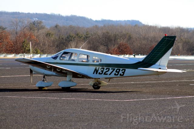 Piper Cherokee (N32793) - Piper parked in transient. Taken on January 26, 2013.