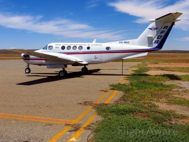 Beechcraft Super King Air 200 (VH-MSZ) - Royal Flying Doctor Service of Australia - on the tarmac at Broken Hill