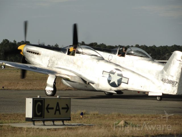 — — - Another Shot of Tom Reilly's NAA XP-82 heading out with Ray Fowler and Max Hodges.