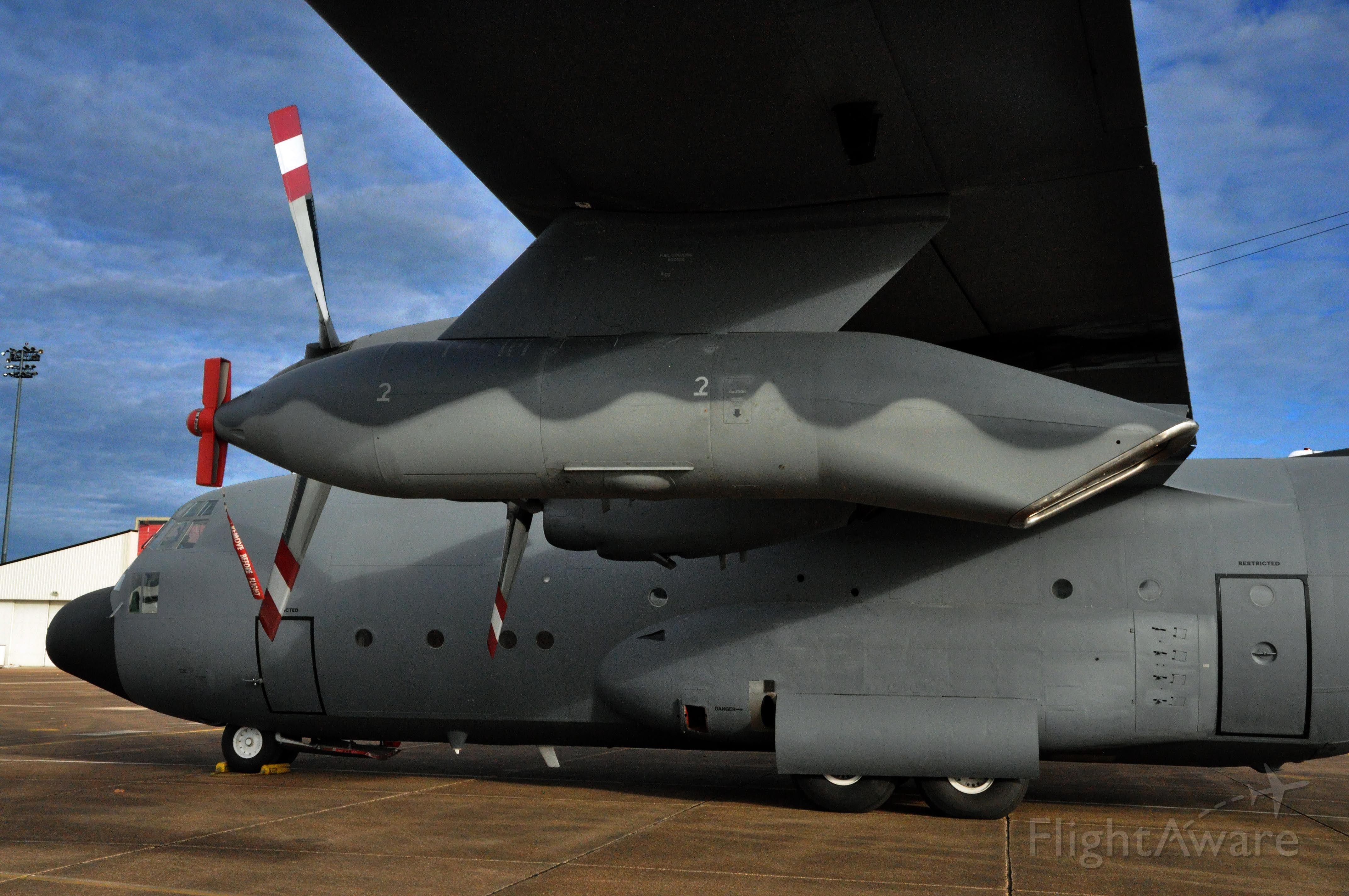Lockheed C-130 Hercules (N131EC) - C-130A with refueling pod.