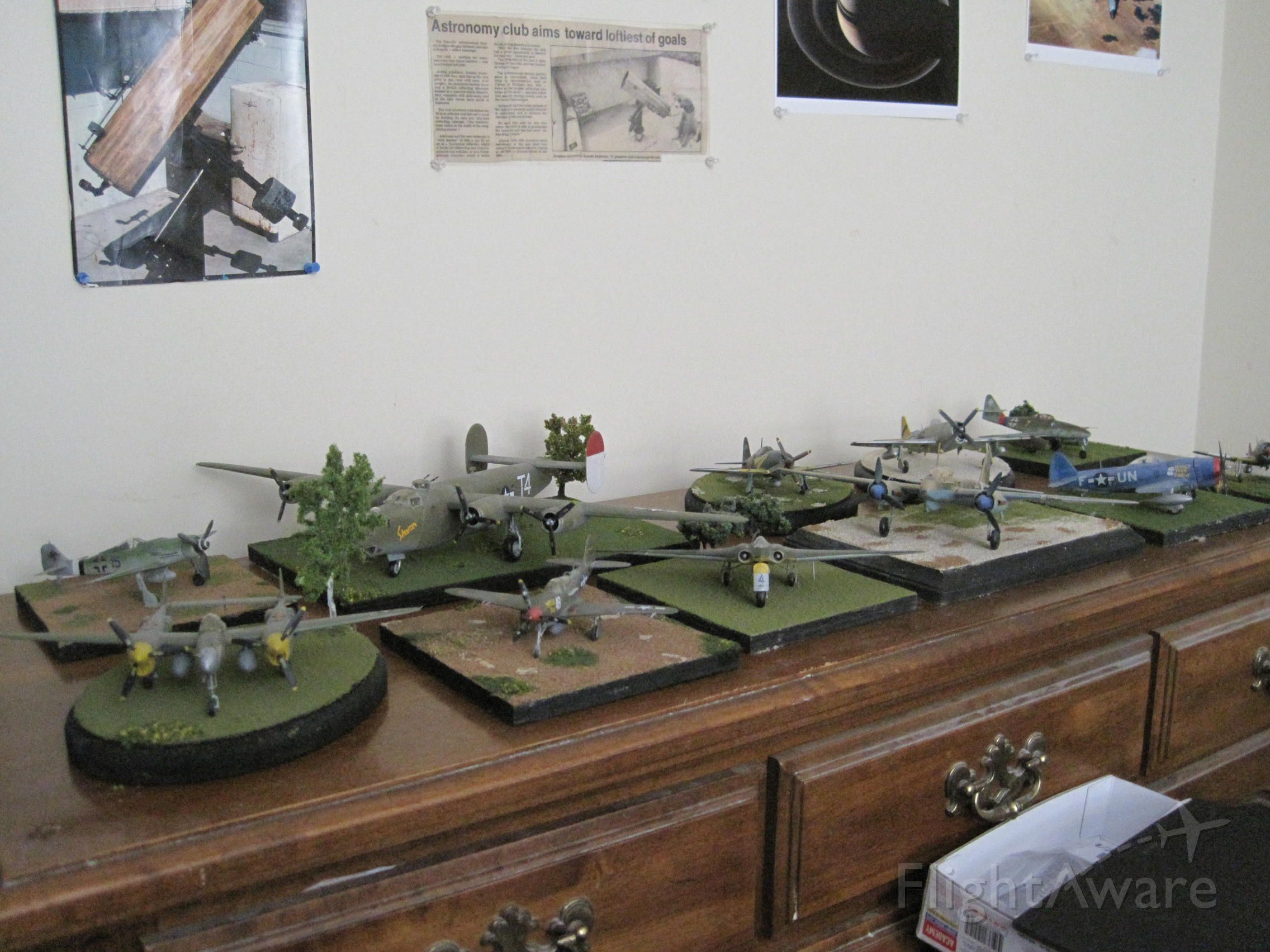 — — - A display area for some of my model aircraft.