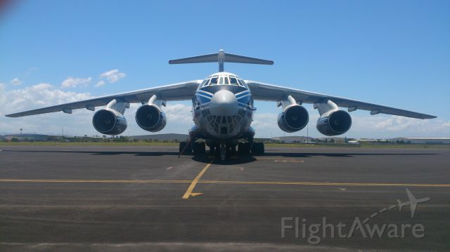 Ilyushin Il-76 (RA-76950) - Near DHL Hangar at Brisbane Airport
