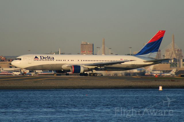 N121DF — - A Delta 767 is holding short of runway 27 on taxiway 'Charlie'. Photo taken on October 12, 2008