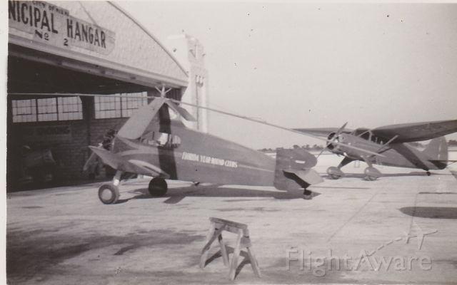 — — - Unknown Autogyro belonging to FLorida Year-Round Clubs 1938 Miami Municipal Airport, Miami FL