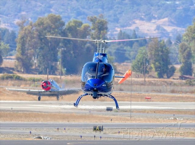 Bell 505 (N911AC) - Alameda County Sheriff Dept.'s Bell 505 at Livermore Municipal Airport. Livermore CA. October 2020