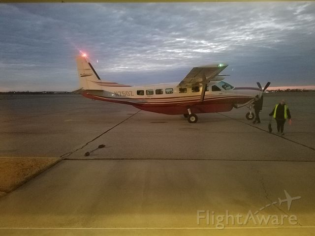 Cessna Caravan (N750Z) - Cessna 208b Grand Caravan passengers on board leaving KJBR to KSTL Air Choice One 2/3/18