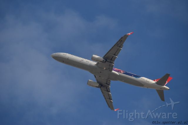 Airbus A321 (TC-JTR) - TK departing TLV from 26