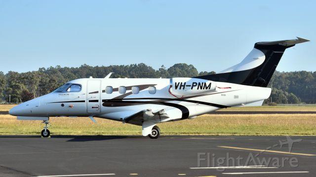 Embraer Phenom 100 (VH-PNM) - 2010 build EMBRAER-EMPRESA BRASILEIRA DE AERONAUTICA, EMB-500 Phenom 100 VH-PNM, sn 0000206 at Wynyard Airport Tasmania Australia 16 April 2019.