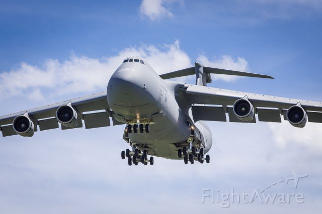 Lockheed C-5 Galaxy — - A C-5 Galaxy from Westover ARB doing touch and go runs at KBGR