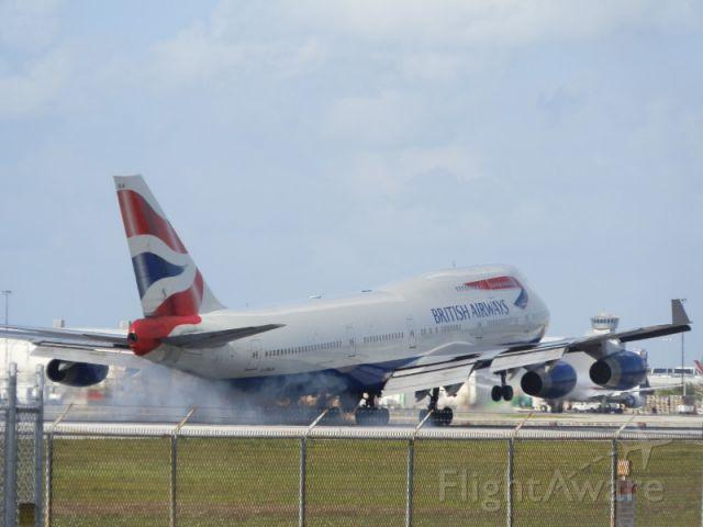 """Boeing 747-400 (G-BNLW) - Oh,""""My aching gear!! """""""