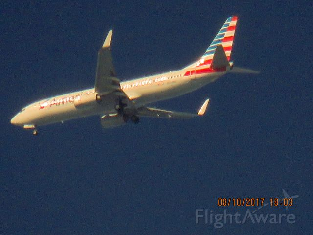 Boeing 737-800 (N878NN) - Making some circles on a test flight out of Tulsa.