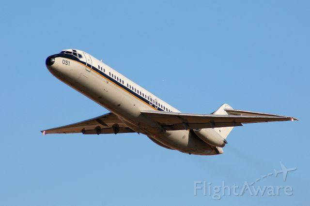 Douglas DC-9-10 (16-0051) - A classic US Navy C-9 departs runway 25 at KFSM.