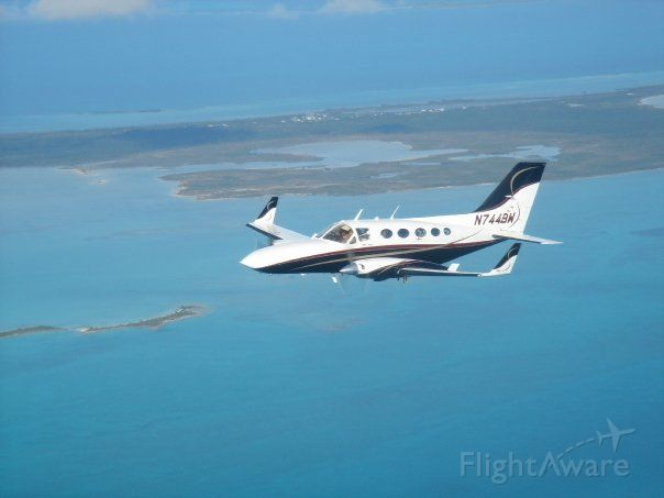 Cessna Chancellor (N744BW) - Flying over the Abaco