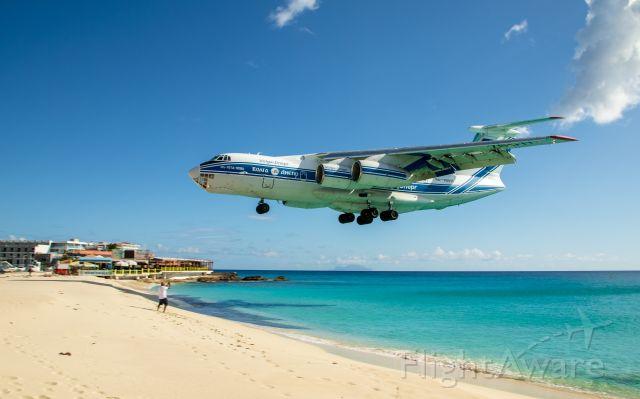 Ilyushin Il-76 (RA-76511) - Ilyushin II-76 over Maho Beach, St. Maarten (4/17/2020)
