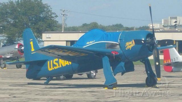 — — - F8F-2, Blue Angel, at Thunder Over Michigan, 2017.