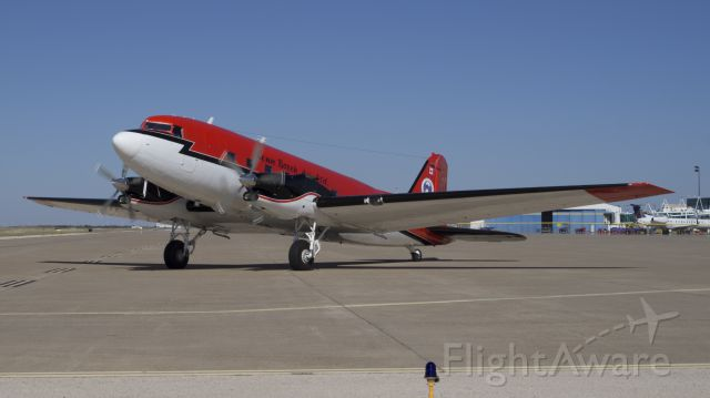 Douglas DC-3 (turbine) (C-GJKB) - Basler BT-67 (modified Douglas DC-3) on taxi-out from Tac Air in Amarillo, Texas, on Oct. 2, 2013.