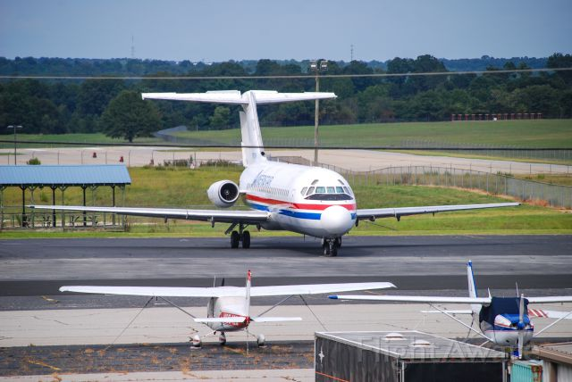 Douglas DC-9-10 (N785TW) - A classic DC-9 visiting Greenville, SC!  I first photographed this plane almost 12 years ago at this same airport.