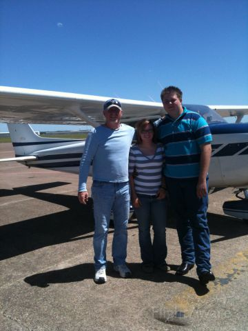 Cessna Skyhawk (N6349D) - MY SON HIS FUTURE WIFE AND ME