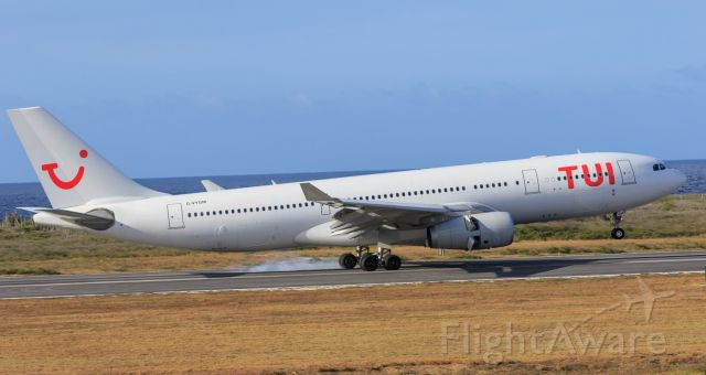 Airbus A330-200 (G-VYGM) - Tui airlines landing at TNCC all white style!