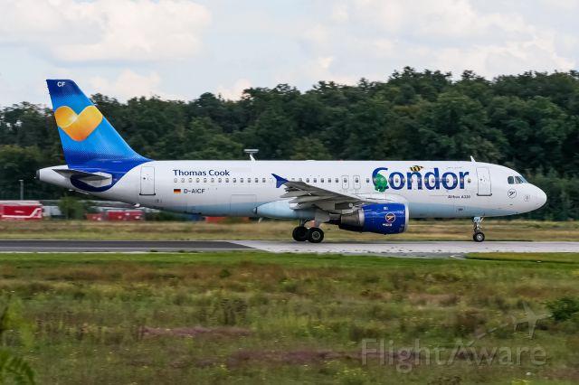 Airbus A320 (D-AICF) - D-AICF Condor Airbus A320-212 @ Frankfurt (EDDF) / 27.08.2014