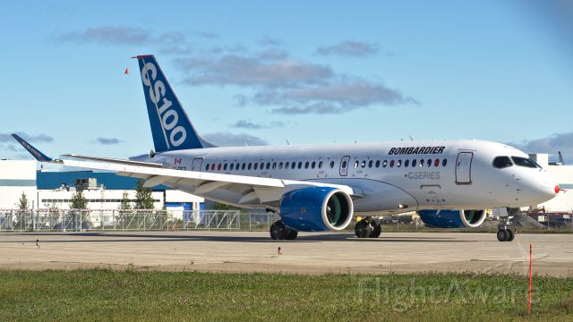 Bombardier CS100 (C-FBCS) - Bombardier CS100 departing for First Flight