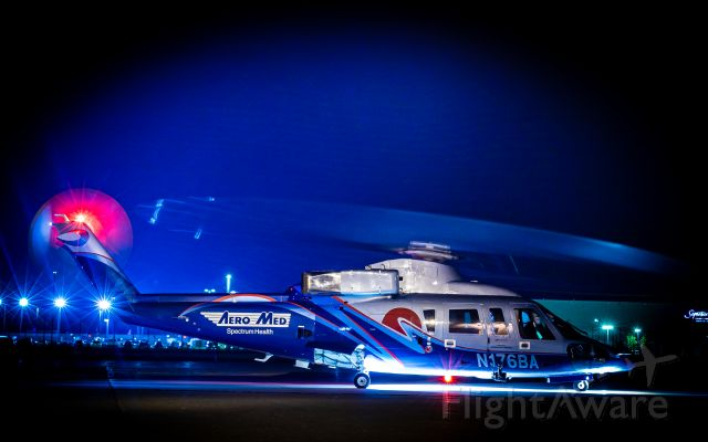 Sikorsky S-76 (N176BA) - 6BA (AeroMed 2) spins up at it's ramp for an early morning mission