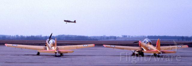 OGMA DHC-1 Chipmunk — - April 1963, De Havilland DHC-1 Chipmunks on the flight line at RCAF Centralia, Ontario.
