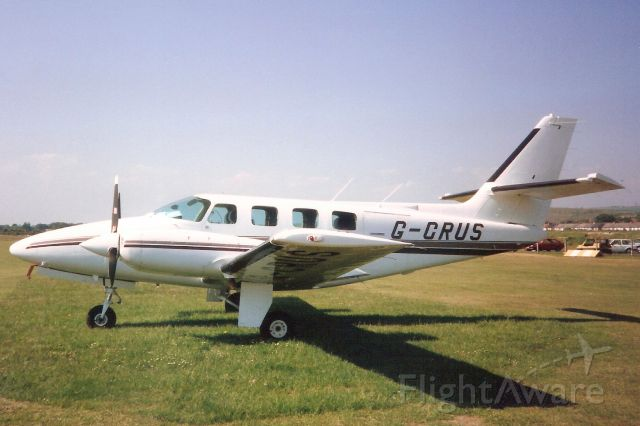 Cessna T303 Crusader (G-CRUS) - Seen here in May-90.<br /><br />Reregistered N6498V 18-Jul-00.
