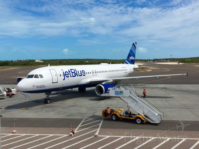 Airbus A320 (N784JB) - Blue Infinity And Beyond! at Providenciales, Turks & Caicos