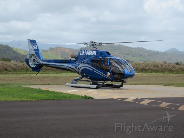Eurocopter EC-130 (N11HQ) - On the pad at the Lihue airport