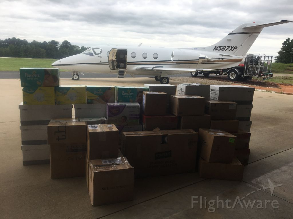 Beechcraft Beechjet (N567XP) - Supplies to KCRP after Hurricane Harvey